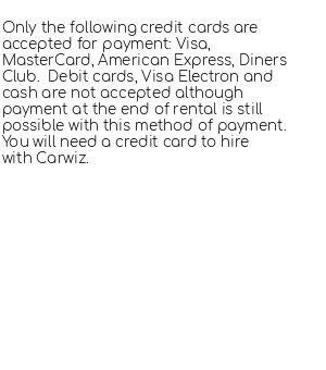 Conditions for Carwiz
