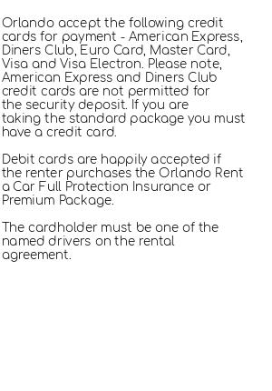 Conditions for Orlando