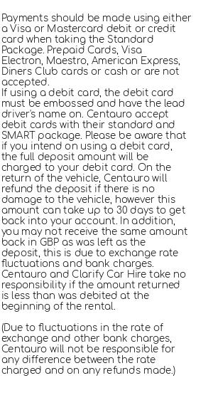 Conditions for Centauro
